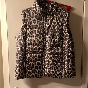 NY&C Leopard Puffer Vest